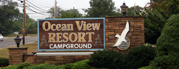 Ocean View Resort Entrance Sign